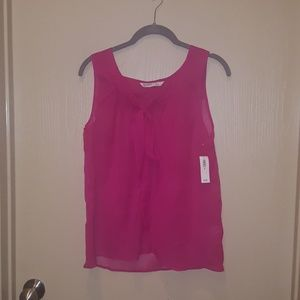 NWT sleeveless sheer top